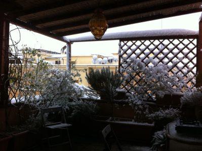 Roma, sotto la neve