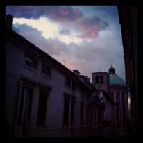 Vicenza, scorcio al tramonto
